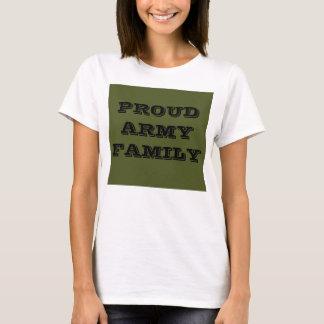 Camiseta Família orgulhosa do exército do t-shirt