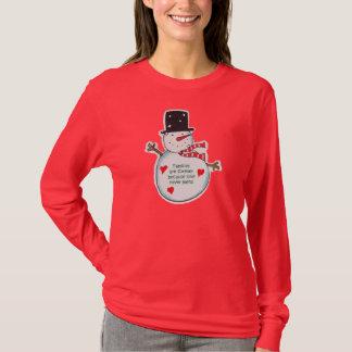 Camiseta Famílias do boneco de neve