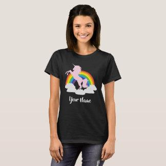 Camiseta Fantasia do arco-íris do unicórnio personalizada