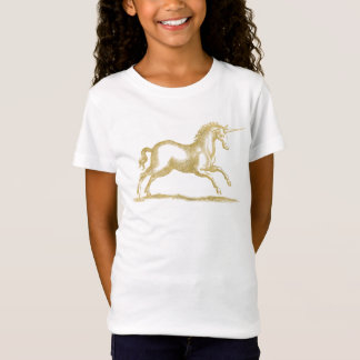 Camiseta Fantasia do unicórnio do brilho do ouro