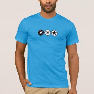 Camiseta FANTASMA aéreo EUA do fotógrafo do zangão olá! a