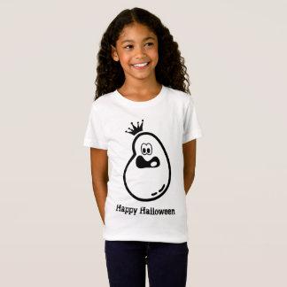 Camiseta Fantasma bonito do Dia das Bruxas com coroa