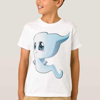 Camiseta Fantasma bonito dos desenhos animados