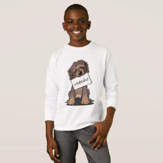 Camiseta Fantasma do chocolate do Doodle de KiniArt