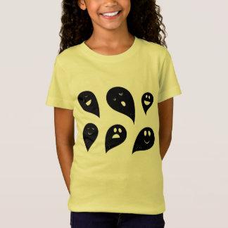Camiseta Fantasmas do amarelo do T-SHIRT das MENINAS