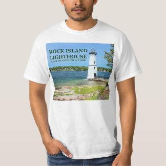 Camiseta Farol da ilha da rocha, t-shirt de New York