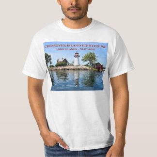 Camiseta Farol da ilha do cruzamento, t-shirt de New York