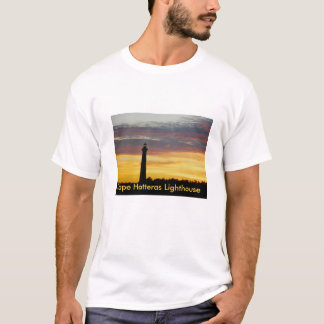 Camiseta Farol de Hatteras do cabo no t-shirt do por do sol
