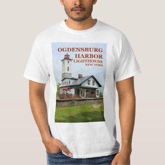 Camiseta Farol do porto de Ogdensburg, t-shirt de New York