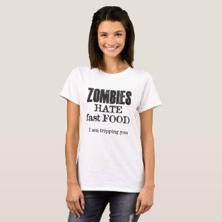 Camiseta Fast food do ódio dos ZOMBIS