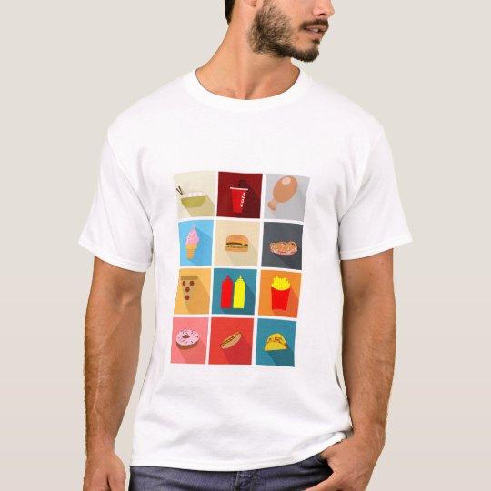 Camiseta Fast Food Icons