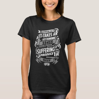Camiseta Fato surpreendente do Vegan