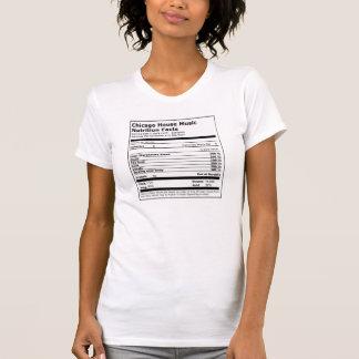 Camiseta Fatos da nutrição da música da casa de Chicago - o