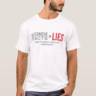 Camiseta Fatos = mentiras alternativos, março para a