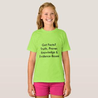 Camiseta Fatos obtidos? Definições do divertimento