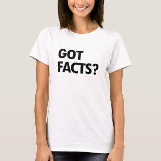 Camiseta FATOS OBTIDOS - - Pro-Ciência -