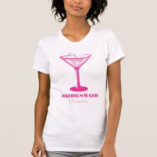 Camiseta Favor do casamento da dama de honra do vidro & do