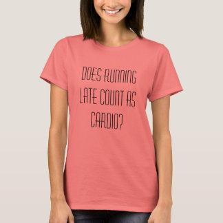 Camiseta Faz a contagem atrasada do corredor como a cardio-