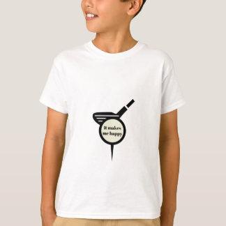 Camiseta Faz-me a caneca do Feliz-Golfe