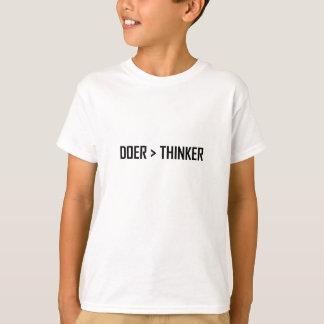 Camiseta Fazedor maior do que o pensador