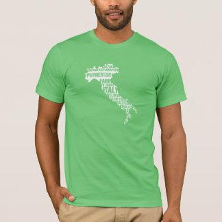 Camiseta Fazenda para apresentar Italia em cores múltiplas