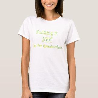 Camiseta Fazer malha não é apenas para avó
