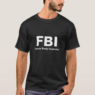 Camiseta FBI, inspector do corpo fêmea