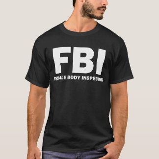 Camiseta FBI: T-shirt do inspector do corpo fêmea