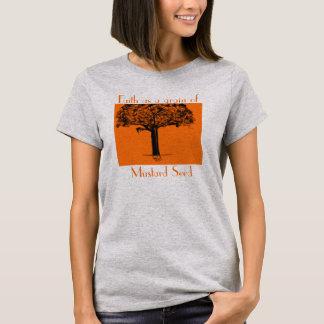 Camiseta Fé como uma grão da semente de mostarda