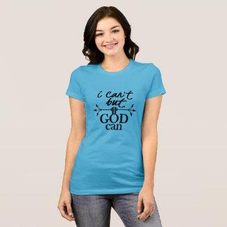 Camiseta Fé cristã eu não posso mas o deus pode