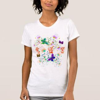 Camiseta Fé, esperança, amor, fundo de sua escolha