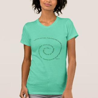 Camiseta Fé tão pequena quanto uma semente de mostarda