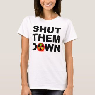 Camiseta Fechado lhes abaixo de nenhum slogan das fusão