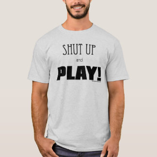 Camiseta Feche acima e jogue!