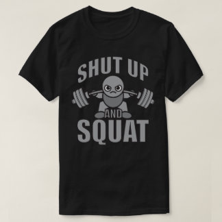 Camiseta Feche acima e ocupa - Weightlifter bonito de