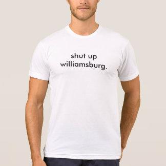 Camiseta feche acima williamsburg - o t dos homens