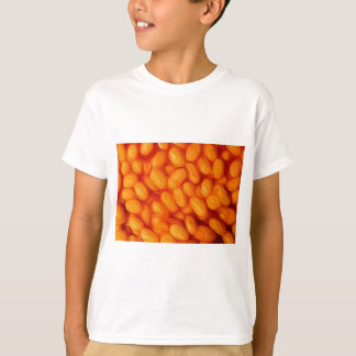 Camiseta Feijões cozidos, feijões brancos na pintura de
