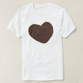 Camiseta Feijões de café, amor aterrado do coração do