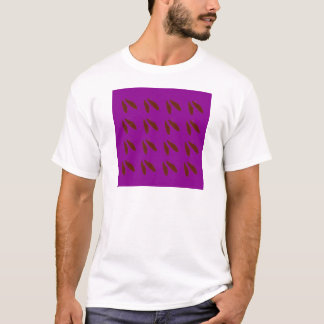 Camiseta Feijões do roxo de Brown. Feijões do design
