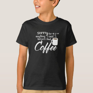 Camiseta Feijões do viciado de cafeína do café pesarosos