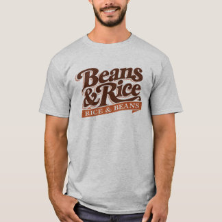 Camiseta Feijões e t-shirt do arroz (arroz e feijões)