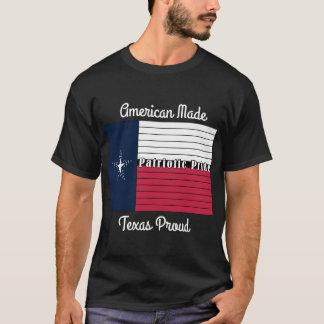 Camiseta Feita americana, t-shirt orgulhoso de Texas