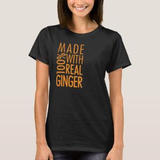 Camiseta Feito com gengibre real