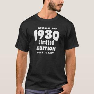 Camiseta Feito em 1930, edição limitada, construída ao
