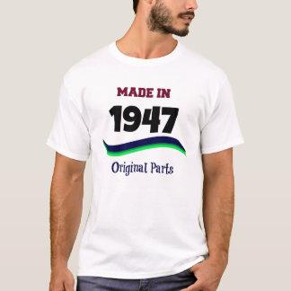 Camiseta Feito em 1947, peças originais