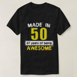 Camiseta Feito em 1950 67 anos de ser impressionante