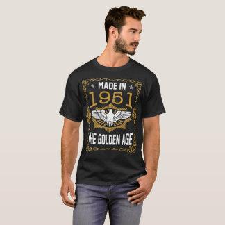 Camiseta Feito em 1951 a época dourada o Tshirt superior do