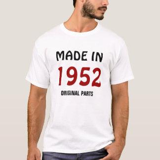Camiseta Feito em 1952, peças originais