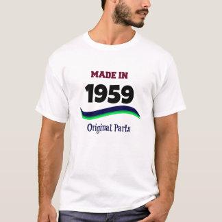 Camiseta Feito em 1959, peças originais