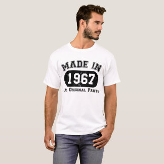 Camiseta Feito em 1967 todo o aniversário das peças do